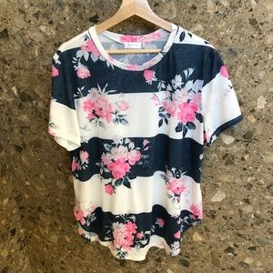 Tops - Floral Stripe Top